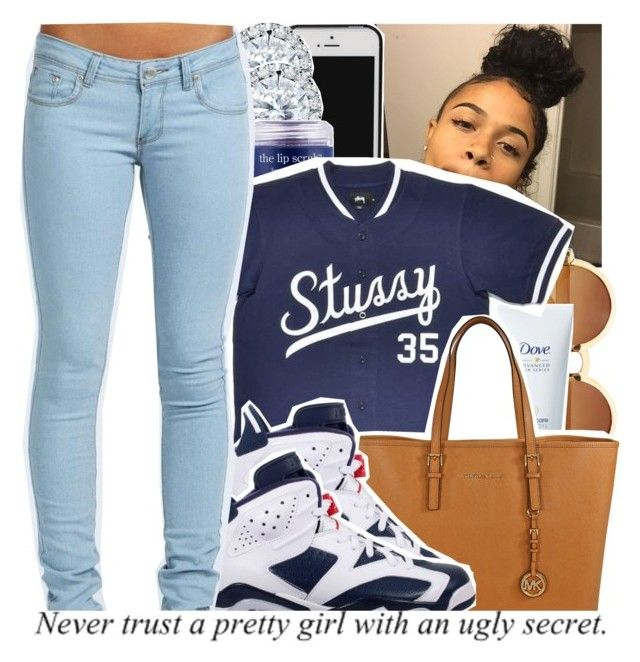 """""""I gave you my all, and all you left me with was a heart full of hurt"""" by babygirl-10 ❤ liked on Polyvore featuring Kobelli, Sara Happ, Stussy, Michael Kors, Retrò and Boohoo"""