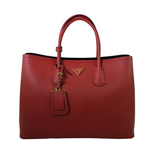 8d9cf54b68b2 Prada Women s Saffiano Cuir Tote Bag BN2761 F068Z Fuoco (Red)  Handbags   Amazon.com