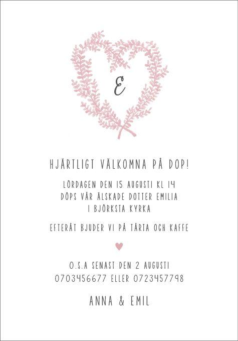 namngivning inbjudningskort