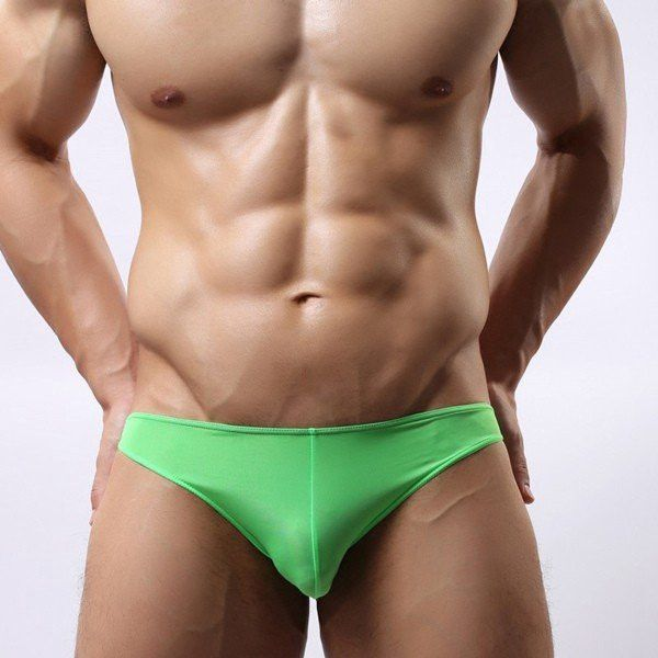 YiZYiF Mens Smooth Bikini Swimwear Underwear Thin Swim Briefs