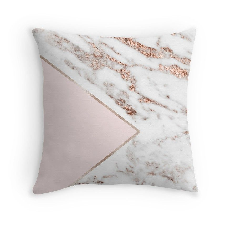 Blush Pink Geo - Rose Gold Marble