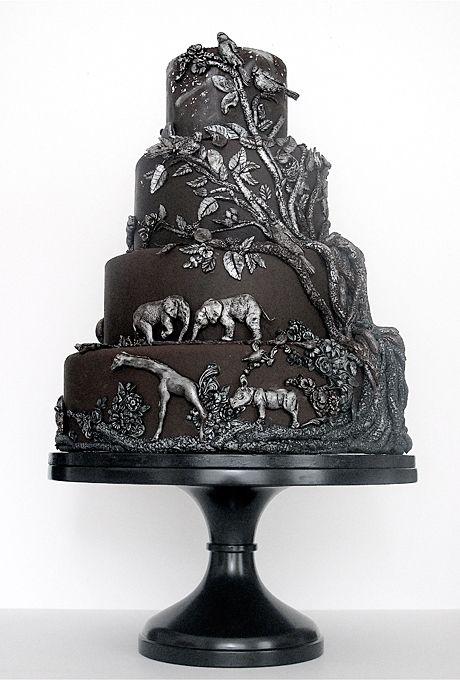 bridescom 22 wedding cakes for dark modern color palettes a safari