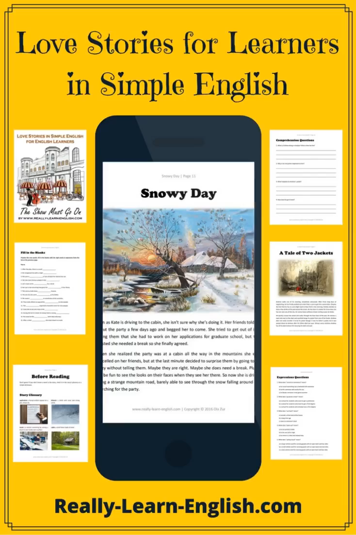 Love Stories for Learners in Simple English (Stories, Glossary