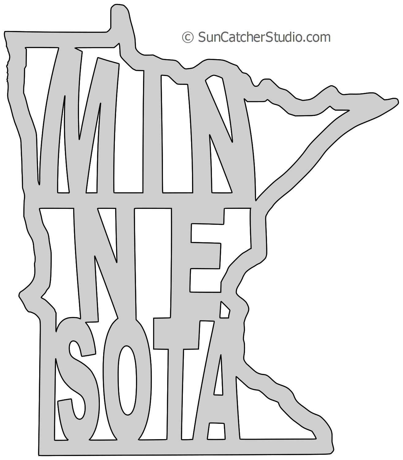 Minnesota Map Outline Printable State Shape Stencil Pattern Scroll Saw Patterns Free Scroll Saw Patterns Scroll Saw