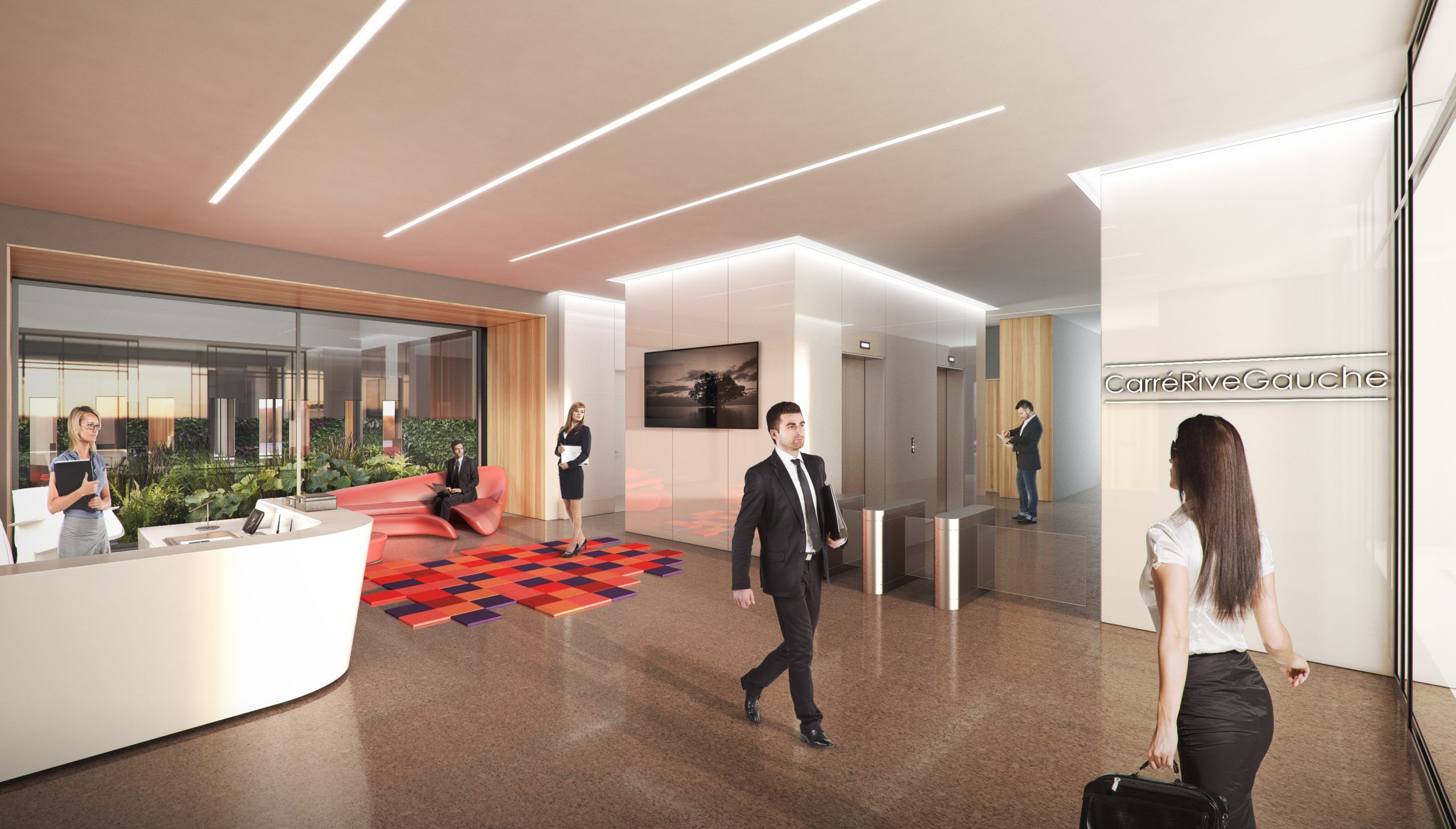 Commercial office spaces for the new development in France.