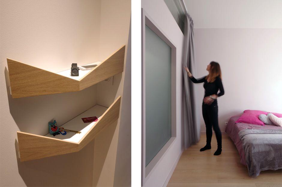 Rénovation du0027un appartement contemporain à Lyon avec un meuble - meuble vide poche design