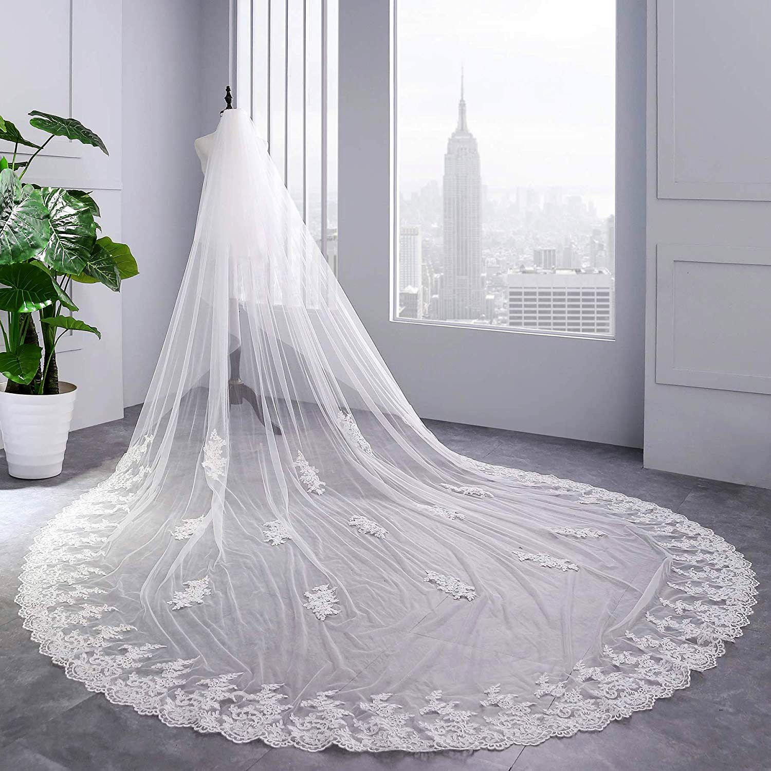 43USD Women's 2 Tier Cathedral Lace Custom Made Handmade