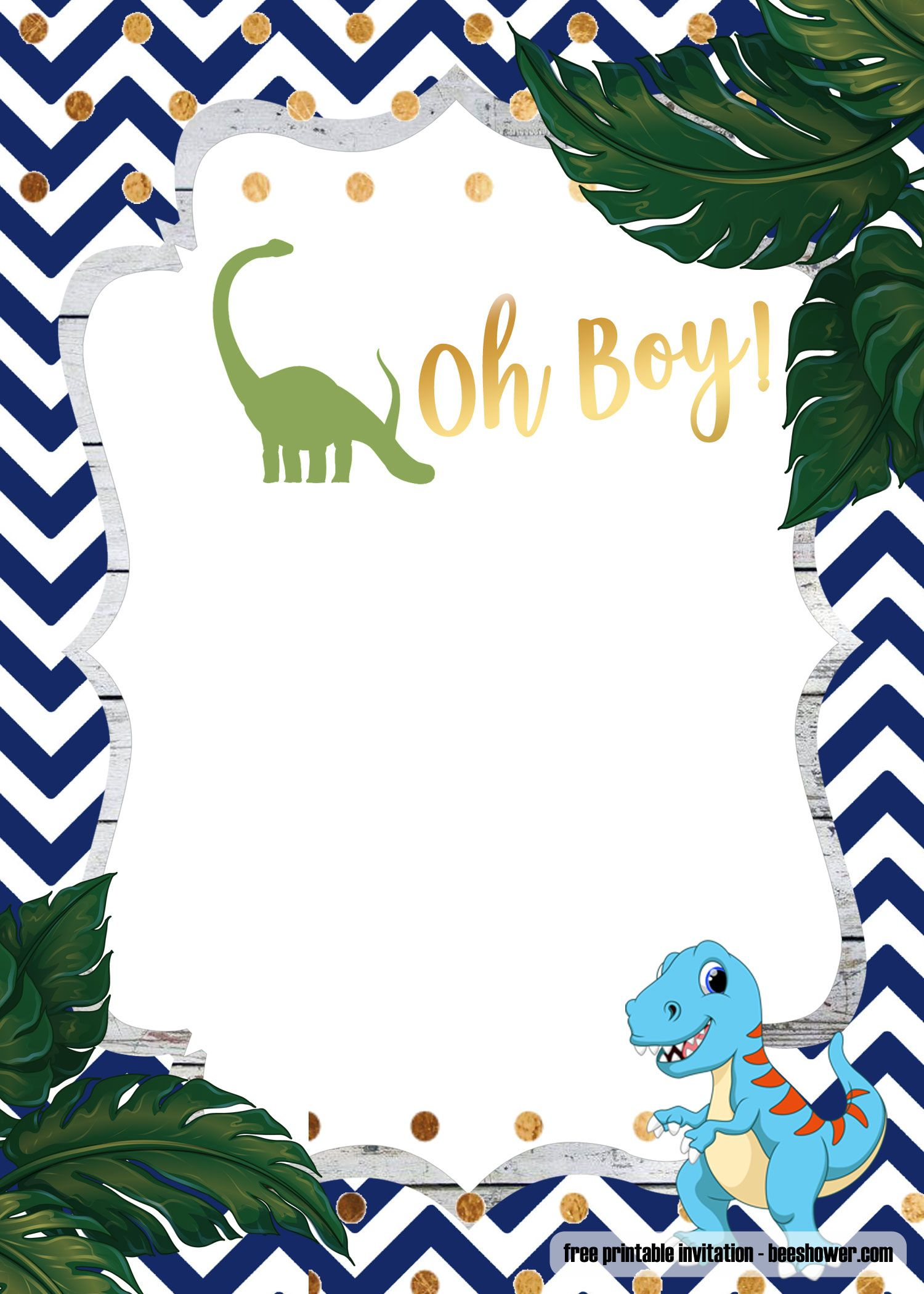 photo about Free Printable Dinosaur Baby Shower Invitations referred to as A Dinosaur Template for your Boy or girl Shower Dinosaur little one