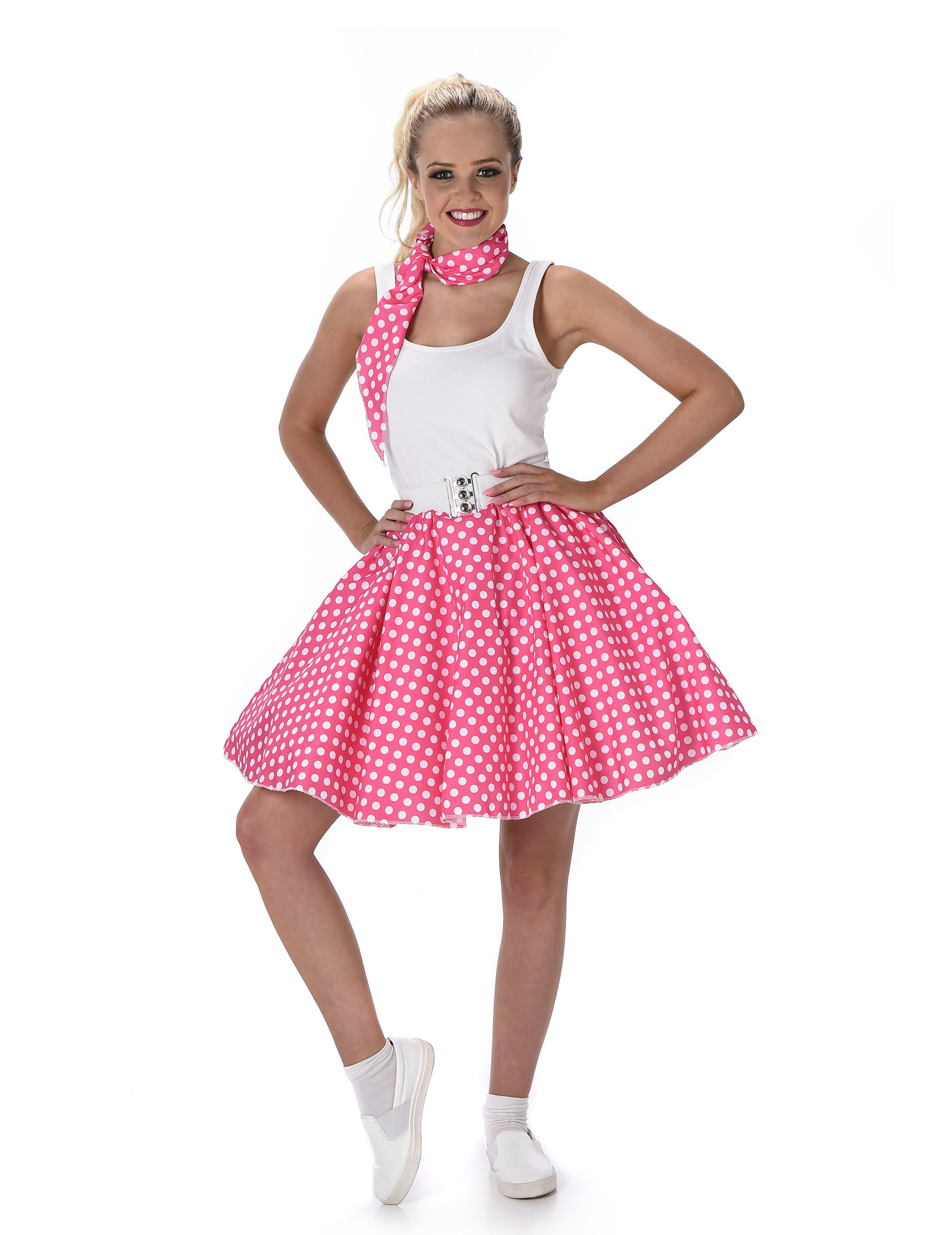 pink fifties retro outfit for women in 2018 | spirit week decades