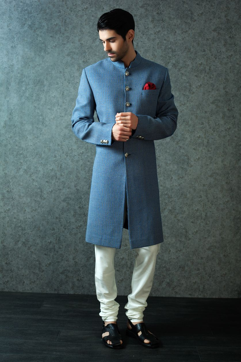 NAWABI SHERWANI | khan | Pinterest | Sherwani, Indian groom wear and ...