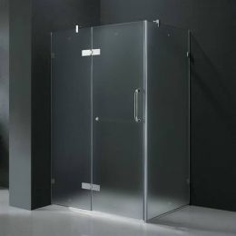 Vigo 32 X 40 Frosted Glass Frameless 3 8 Shower Enclosure With Images Frameless Shower Enclosures Corner Shower Enclosures Rectangular Shower Enclosures
