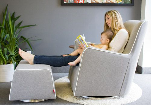 Monte Design Modern Nursery Furniture Grazia Swivel Glider And Ottoman