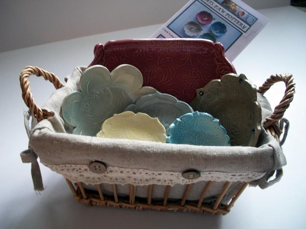 Gift Basket by CatsPawPottery on Etsy | Gift baskets, Grab ...