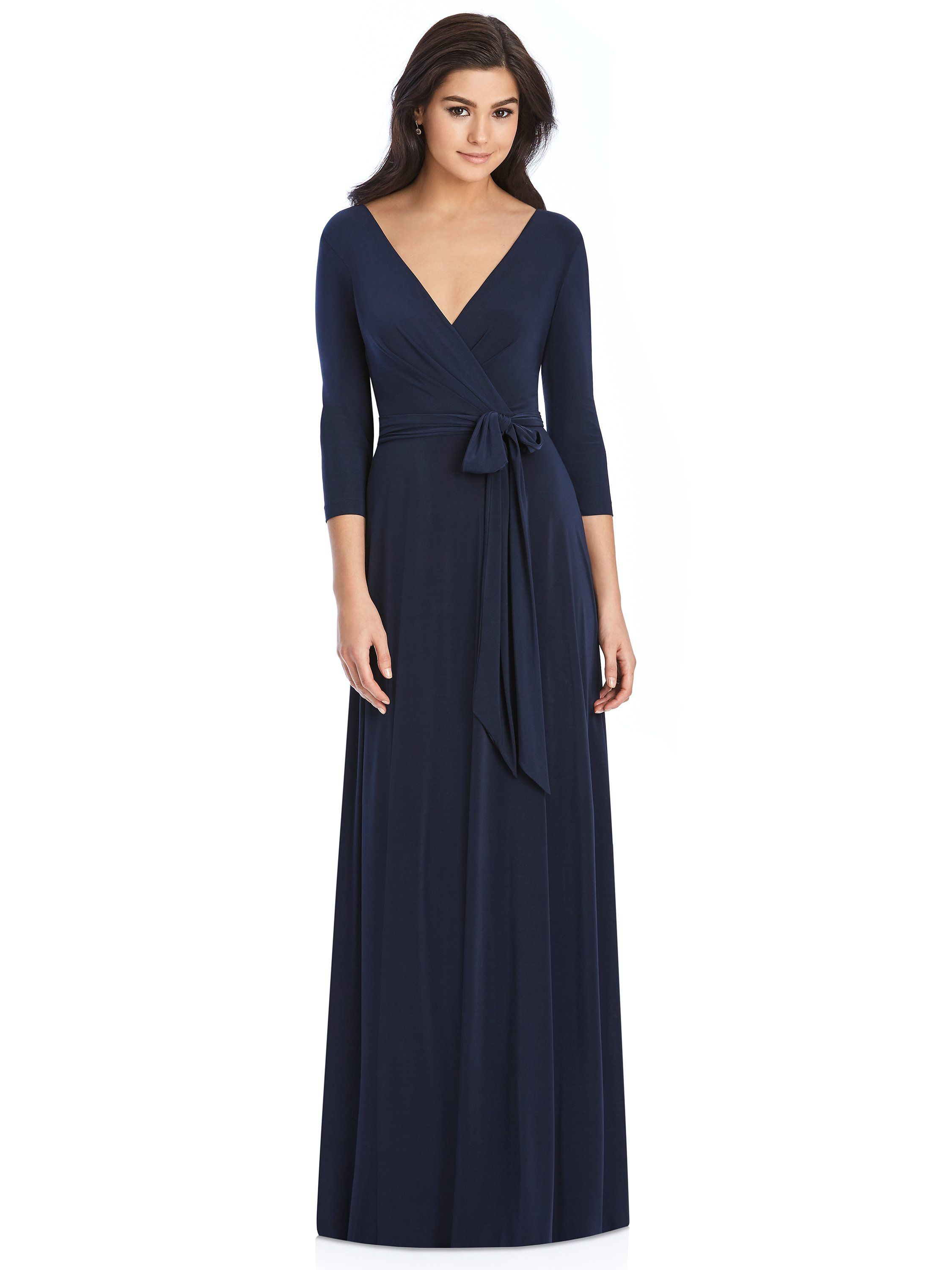 7e04d225c3e Elegant Jersey Formal Dress with Sleeves Style 3027