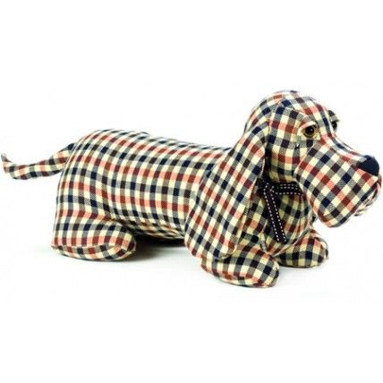 Take Me Home Ribbed Fabric Dog Draught Excluder ~ Chocolate