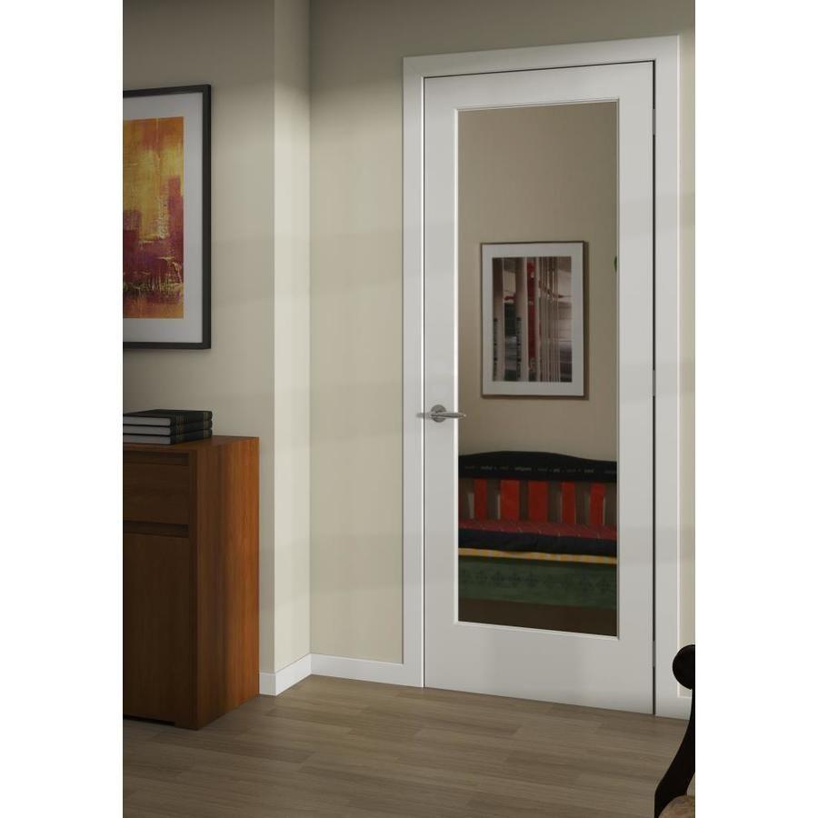 Product Image 2 Slab Door Wood Slab Mirrored Glass