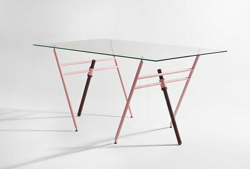 Charmant Coordination Berlin Expands Adjustable Thread Trestle Tables