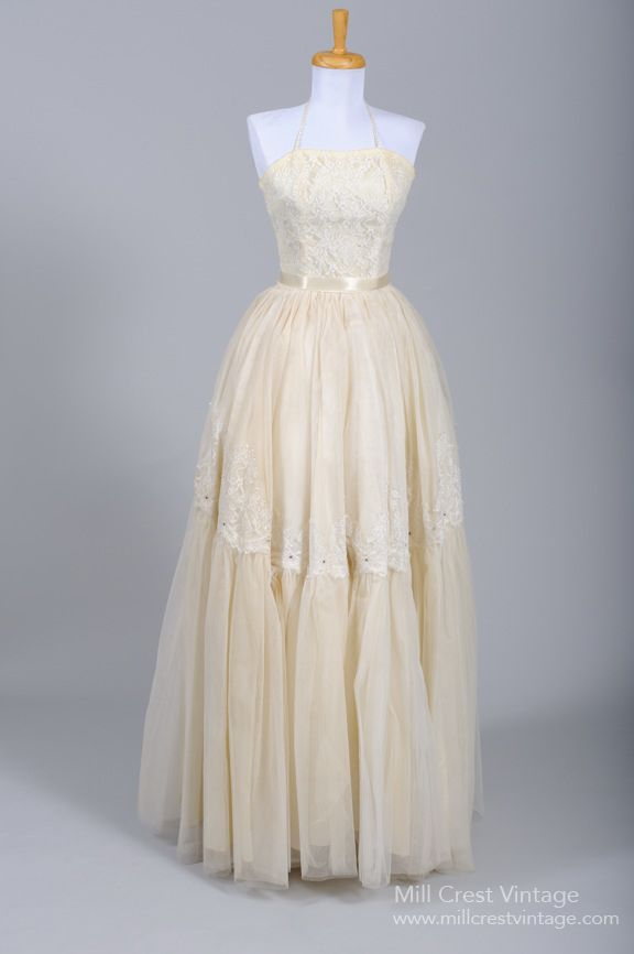 1950 Emma Domb Vintage Wedding Gown : Mill Crest Vintage | Wedding ...