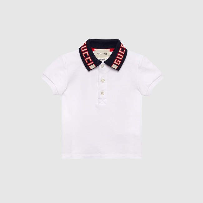 b8aa3f11f Gucci Baby cotton polo with stripe in 2019