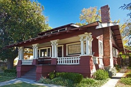 Bold Trim Enlivens The Shingled Exterior Of This 1909 Wilson Plan Bungalow In Whittier CA
