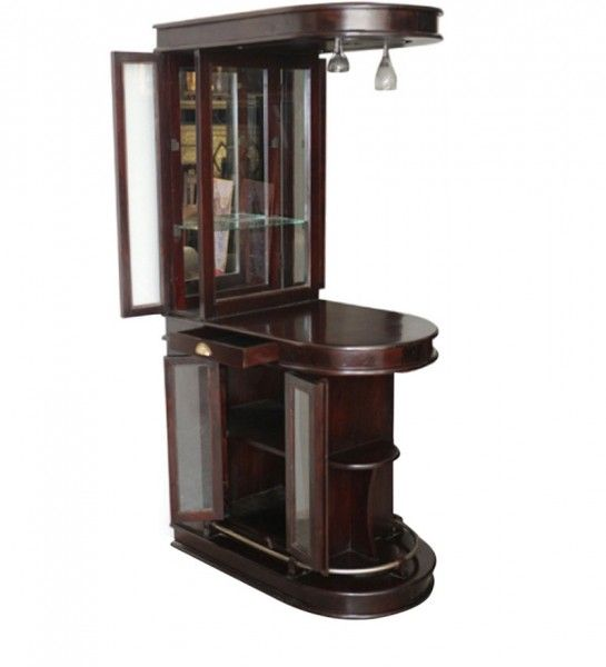 Bar Cabinet Natural Sheesham Wood BF-017