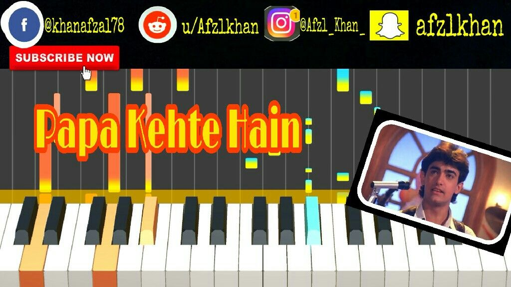 Here Is The Another One Piano Tutorial For The Song Papa Kehte Hain