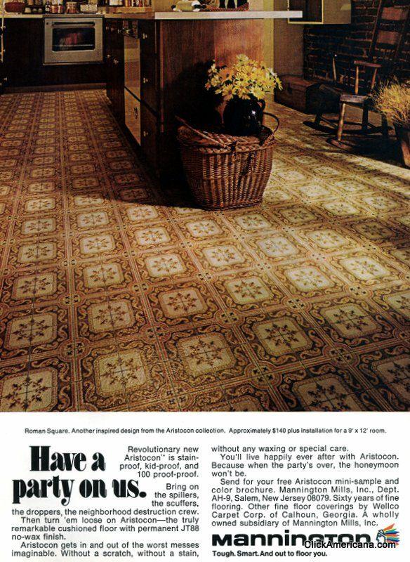Get Down With 70 Groovy Vintage Vinyl Floors From The 70s 80s Vinyl Flooring Mannington Vinyl Flooring Vinyl Flooring Kitchen