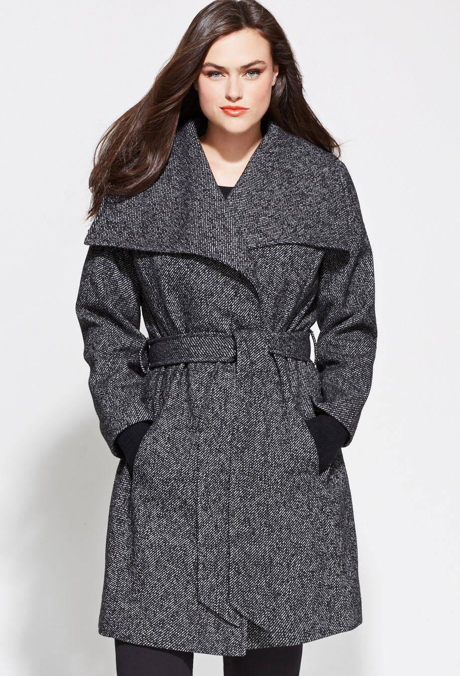 5f7cb0075397e Belted Tweed Coat