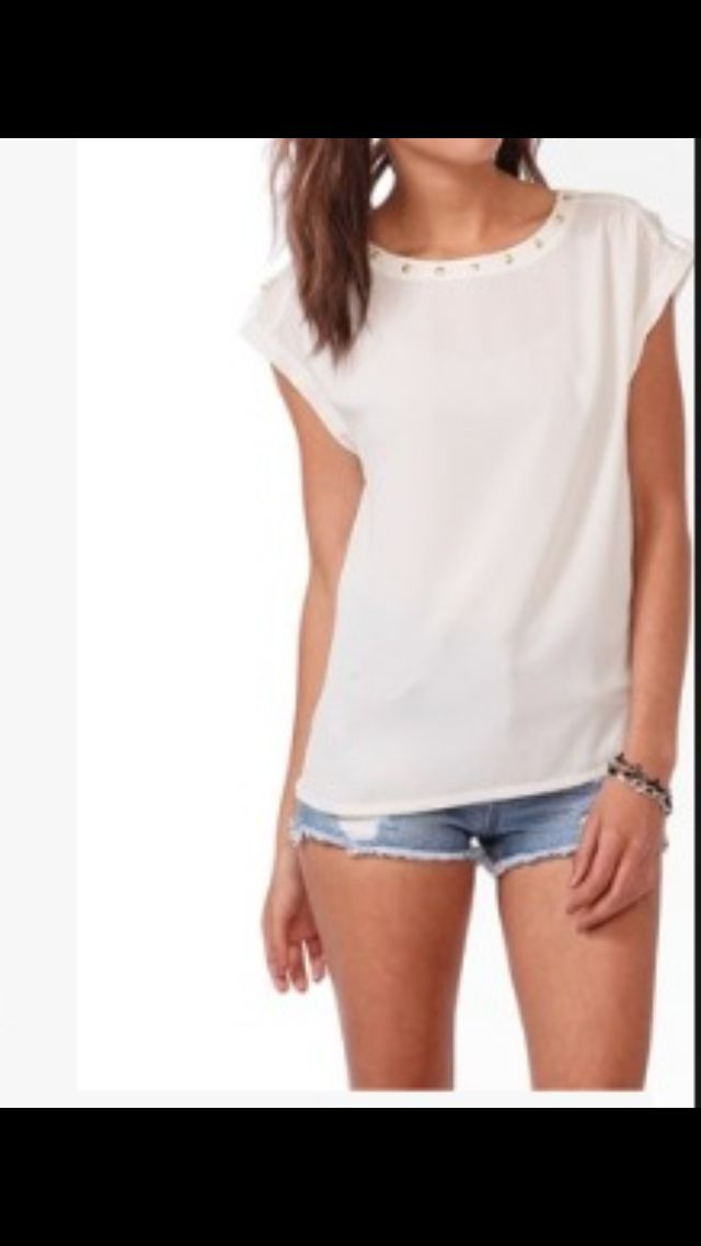 A nice white shirt with booty shorts | Fashion | Pinterest ...