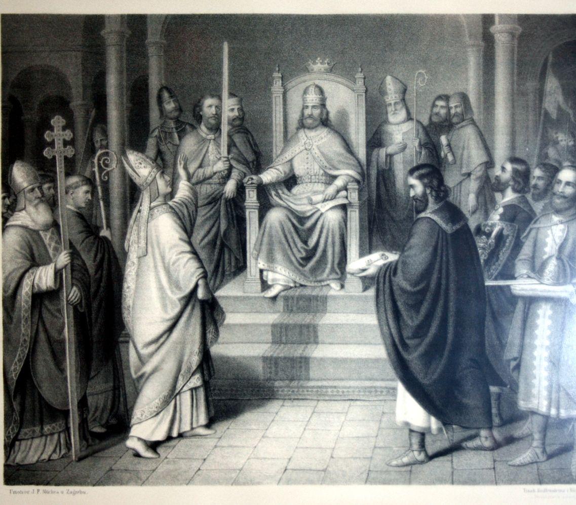 Peter Kresimir Iv Being Recognized As A King By The Diocese Of Split Croatia Croatia Croatia Holiday Dalmatia Croatia