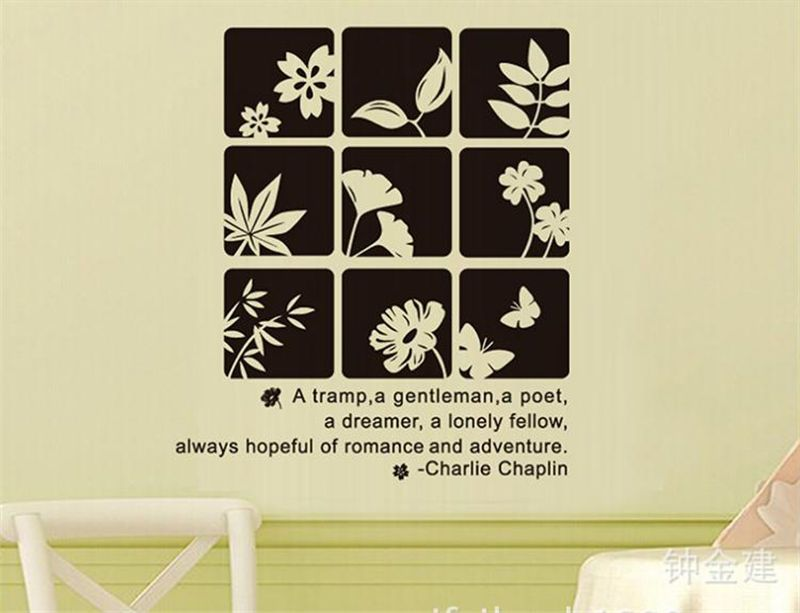 Plain coloured flowers Home Room Decor Removable Wall Stickers Decal ...