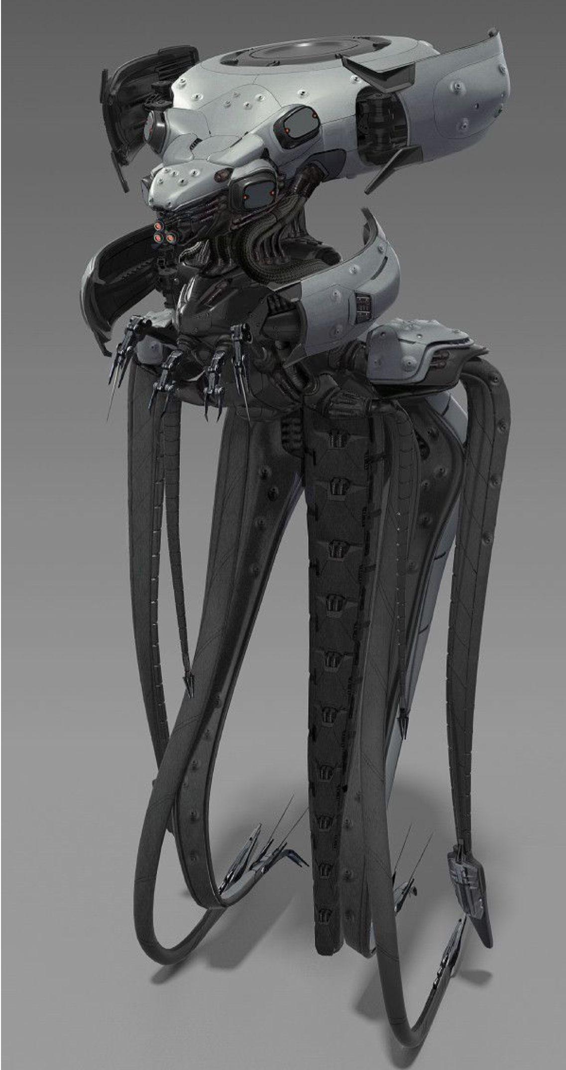 Biomech Alien Concept Art Tech Art Robot