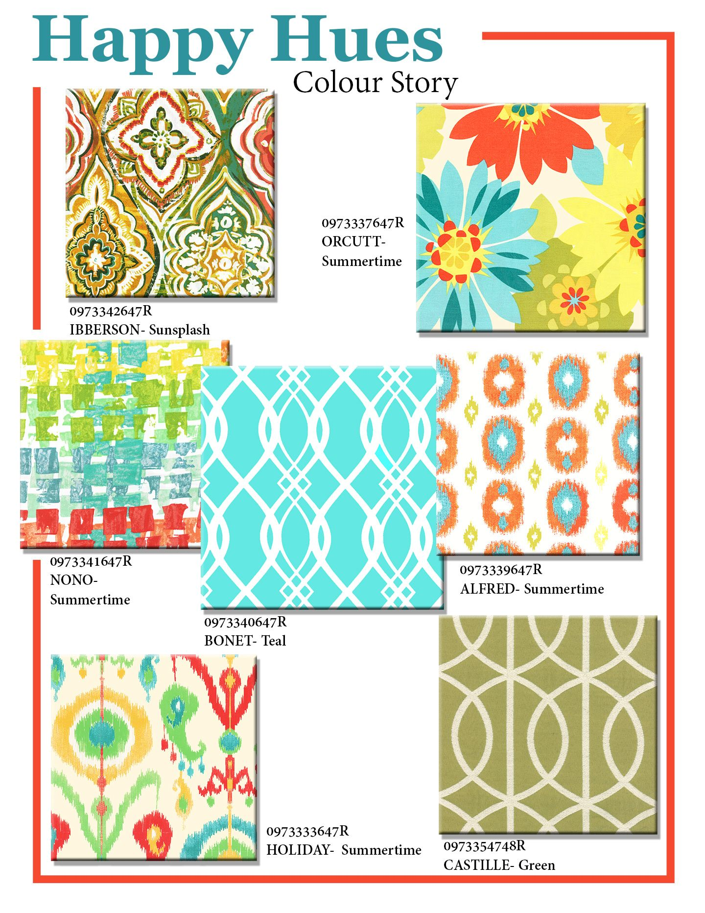 Happy Hues Summer Indoor Fabric Canada With Images Colour Story Hue Color Hues