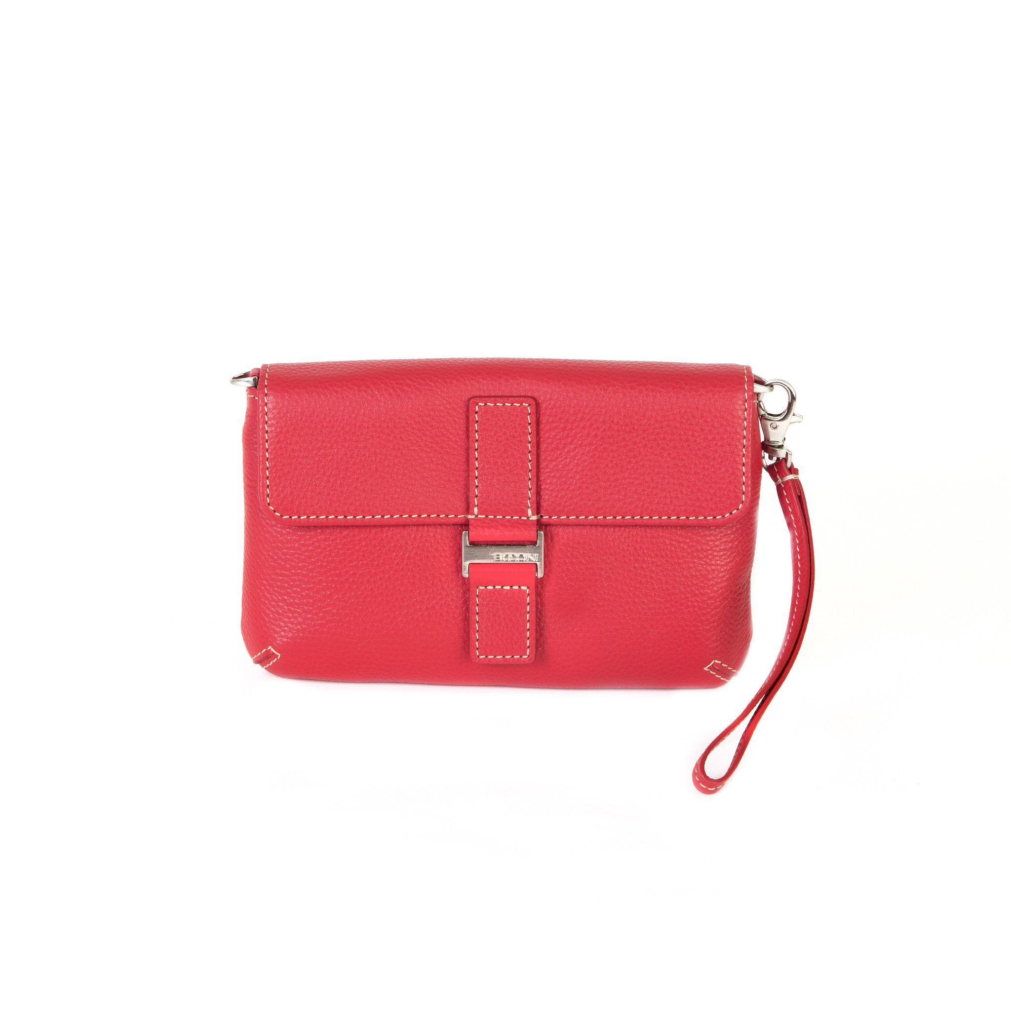 Kylie RFID Mini Clutch in Berry