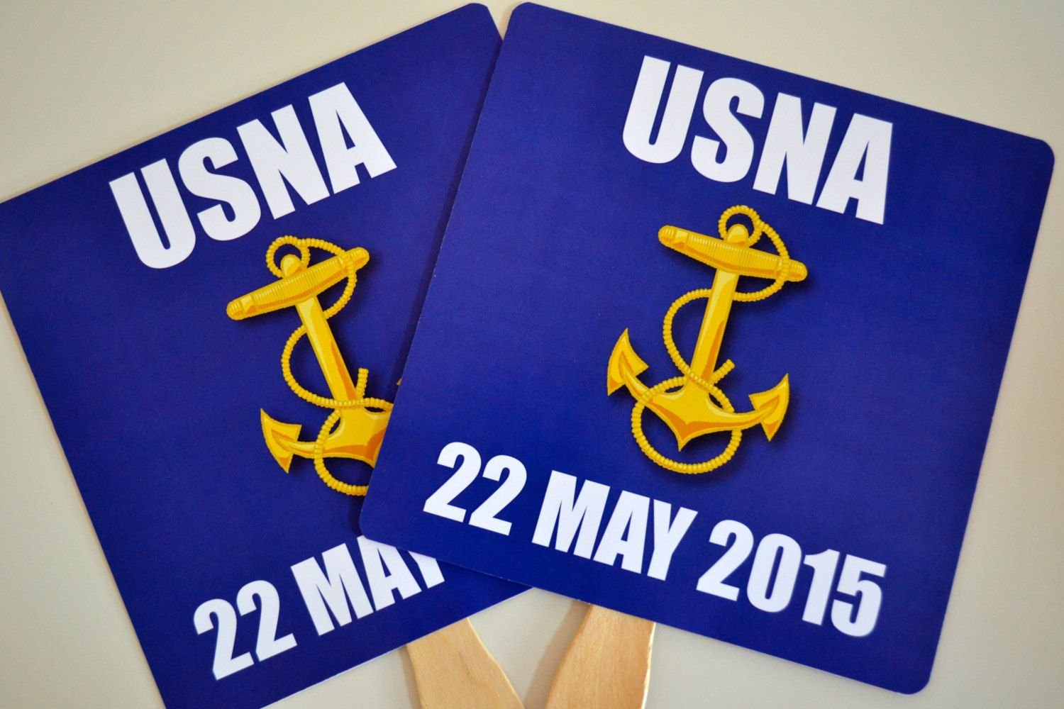 6 7x7 Square Rounded Corners USNA 2019 USA Naval Academy
