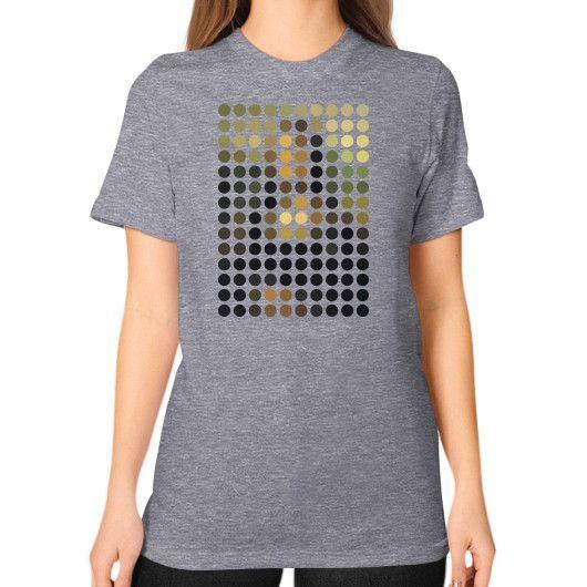Mona Lisa Remix Unisex T-Shirt (on woman)