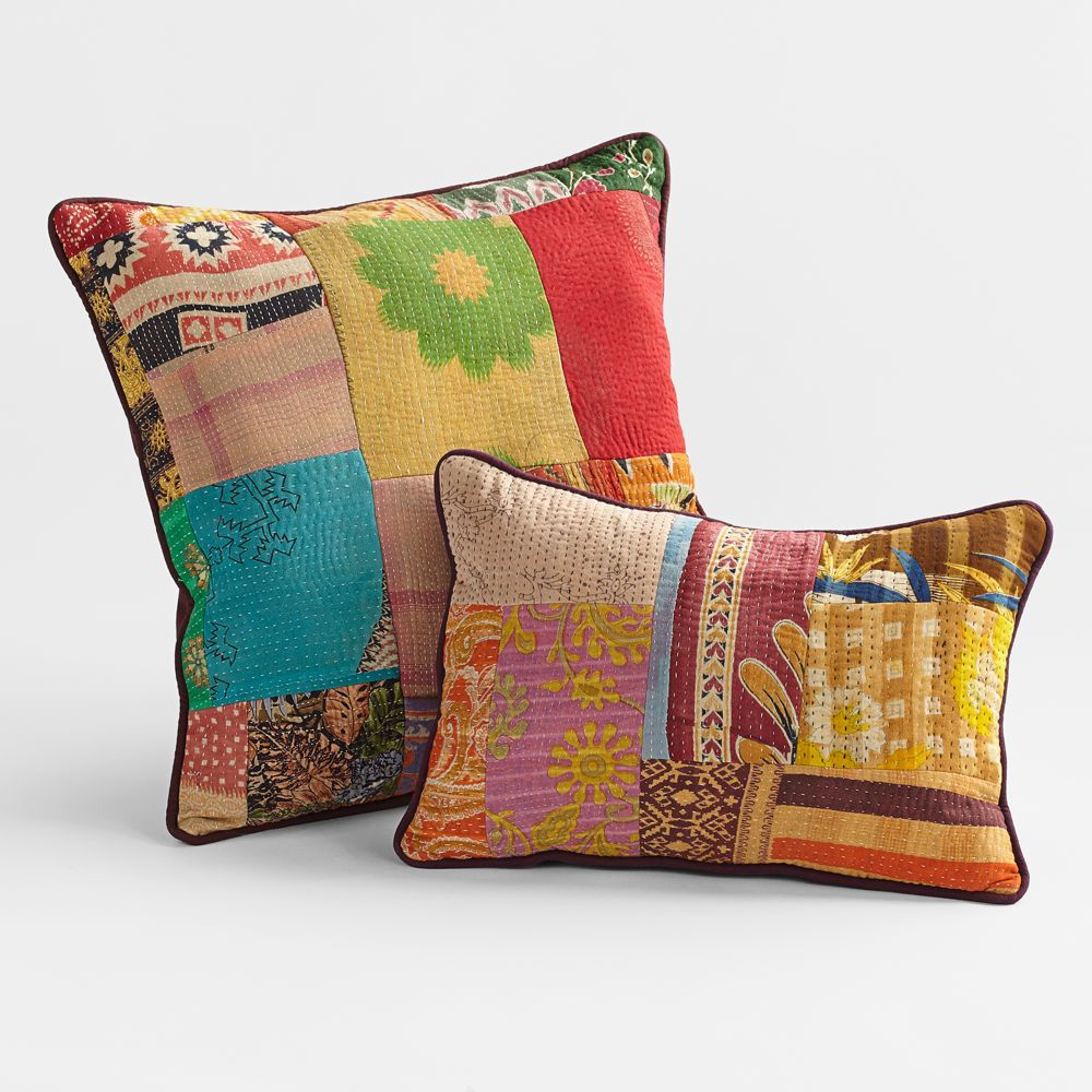 Vintage Kantha Pillows   National Geographic Store