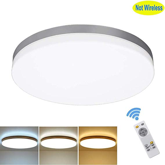 Amazon Com Dllt 24w Modern Dimmable Led Flushmount Ceiling Light Fixture With Remo Flush Mount Ceiling Light Fixtures Flushmount Ceiling Lights Ceiling Lights
