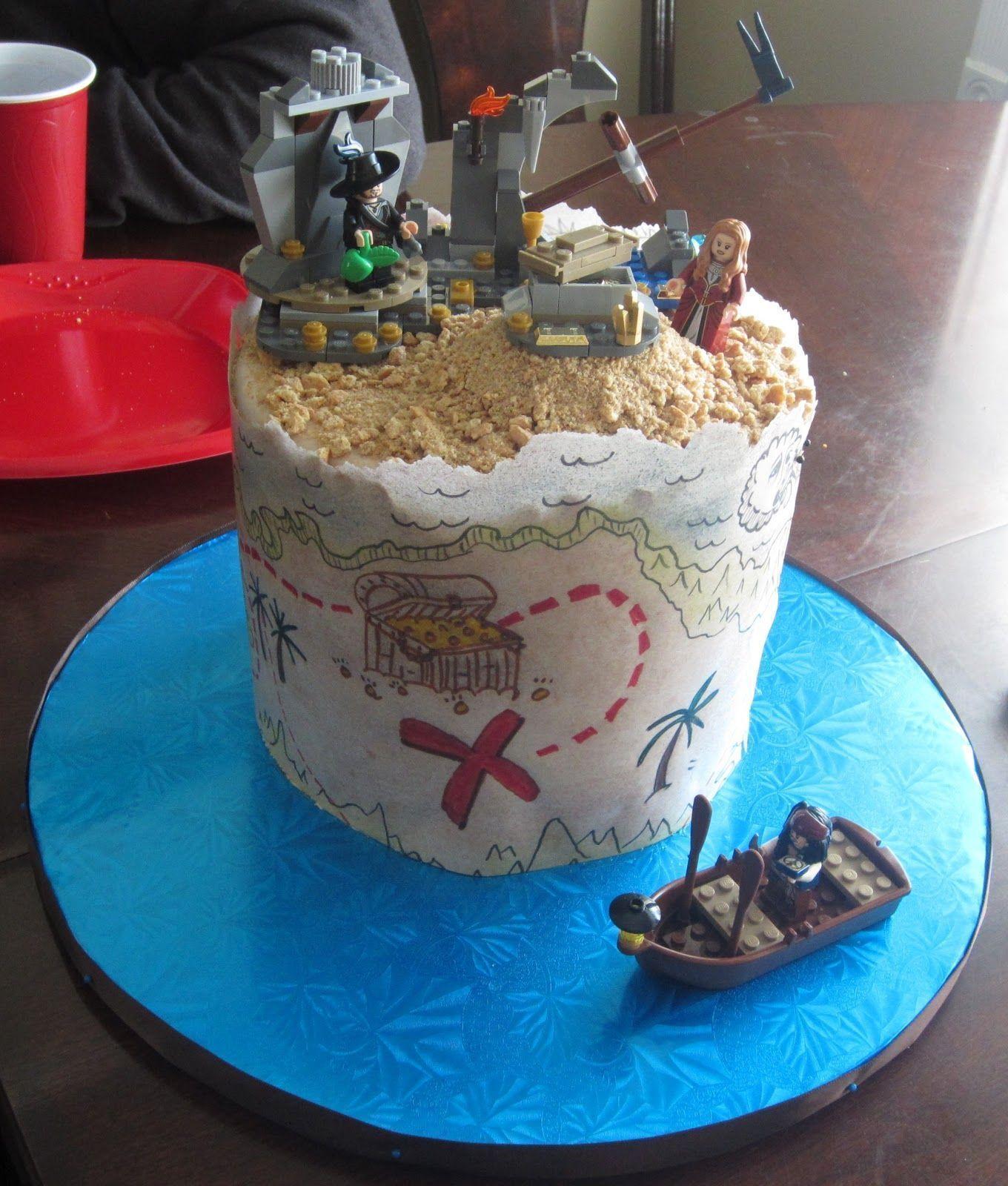 Cakes Legos Pirate Cake Gâteau carte, Gateau fete