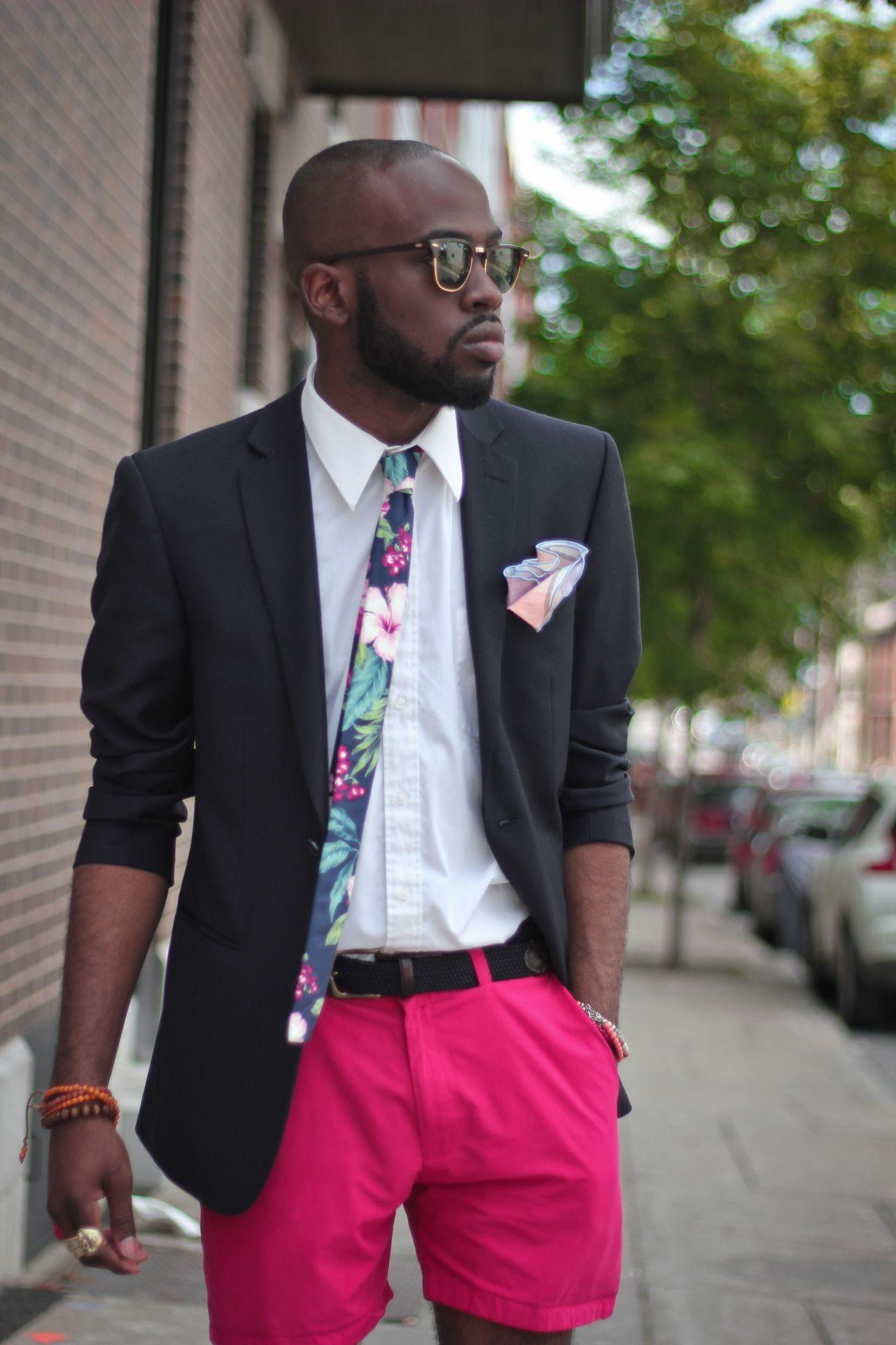summer suit - I would prefer shorts a little longer