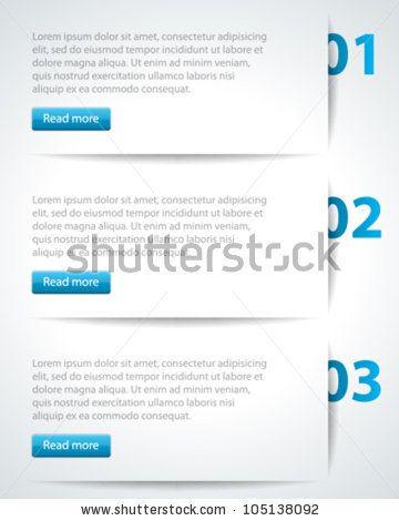 website header design template vector illustration eps 10 stock