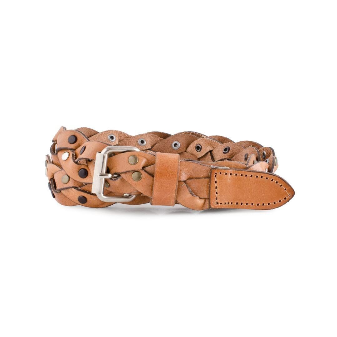 Cinturón trenzado con tachas 9dae8935d006