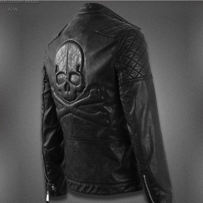 PHILIPP PLEIN* Leather Jacket | DREAM WEAR | Black leather ...