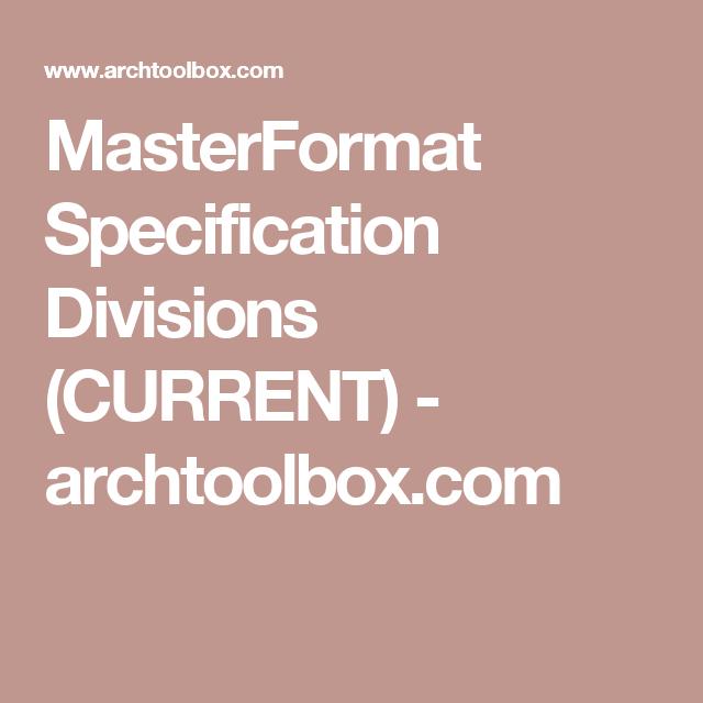 csi masterformat 2012 pdf