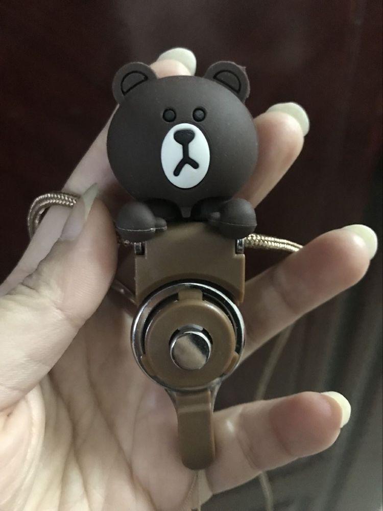 1x teddy bear 3d cell phone straps strings detachable for