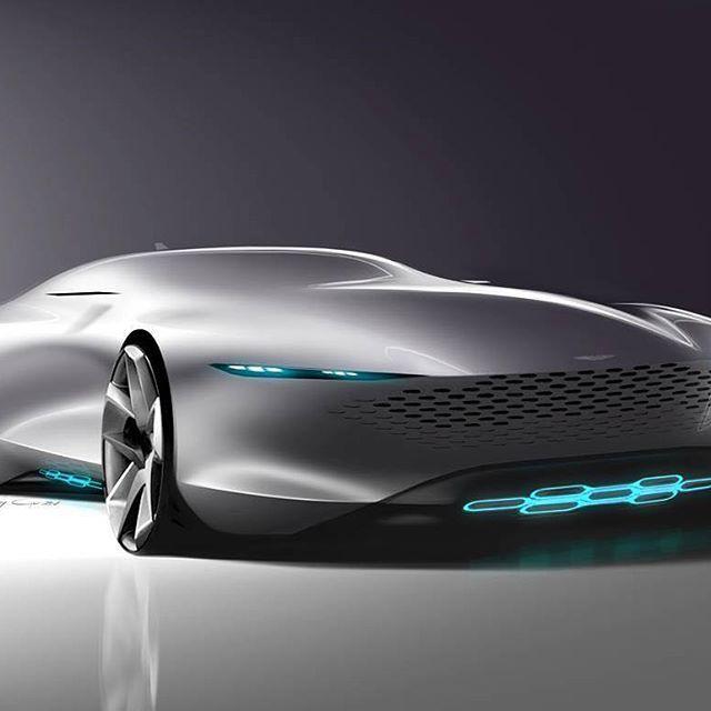 Aston Martin Ev Sketch By Andrey Gusev Design Cardesign Car Design Carsketch Sketch Drawing Ast Concept Car Design Futuristic Cars Concept Cars Vintage