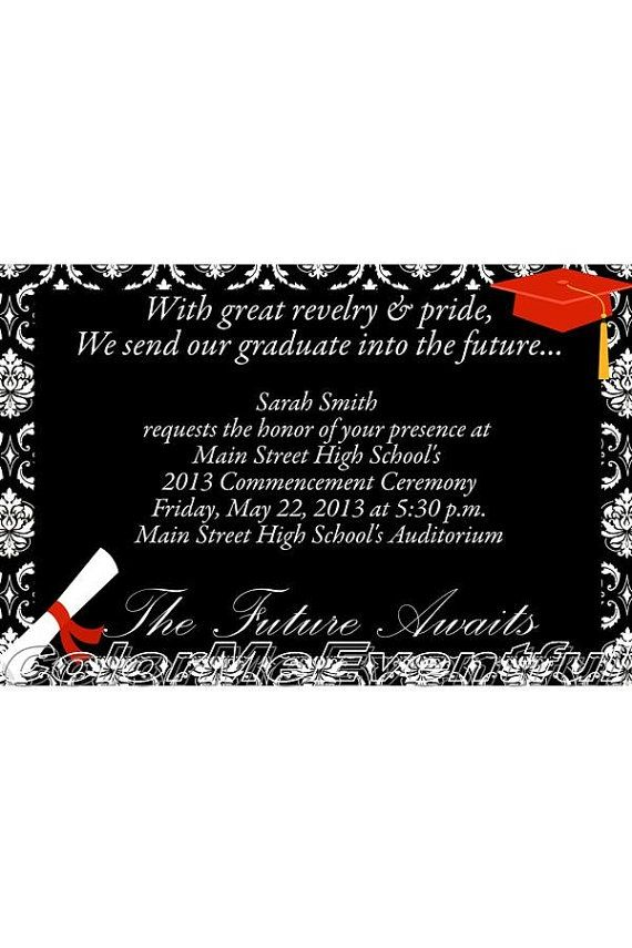 Pinterest graduation invitations completely customized graduation pinterest graduation invitations completely customized graduation invitation in elegant black and white filmwisefo Image collections