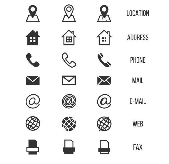 Business Card Vector Icons Business Bewerbung