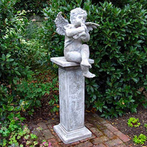 Cherub Garden Statue Bring A Little Whimsy To Your Yard With A Statue}