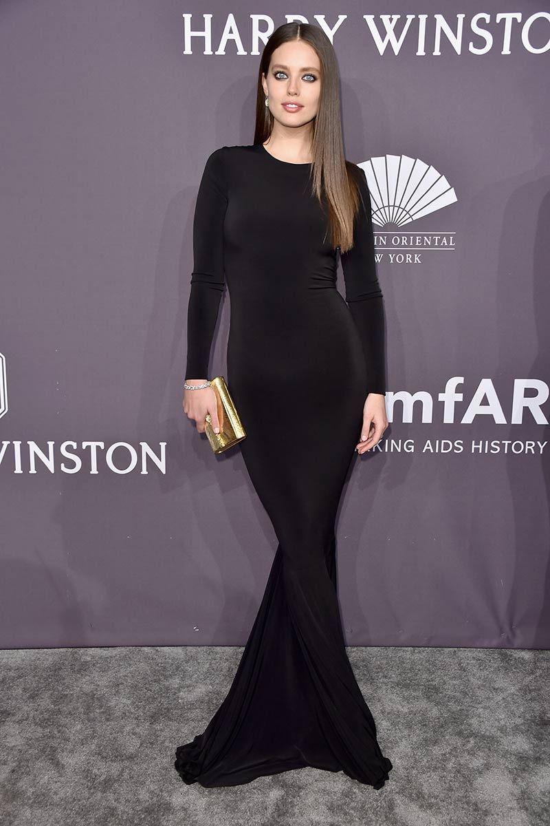 Emily Didonato en la Gala amfAR de NY 2017